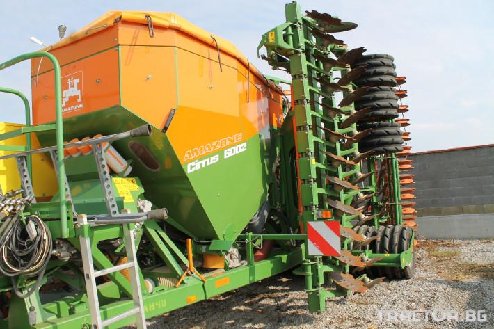 Сеялки Прикачна сеялка за директна сеитба  на слята повърхност марка AMAZONE модел Cirrus 6002 1 - Трактор БГ